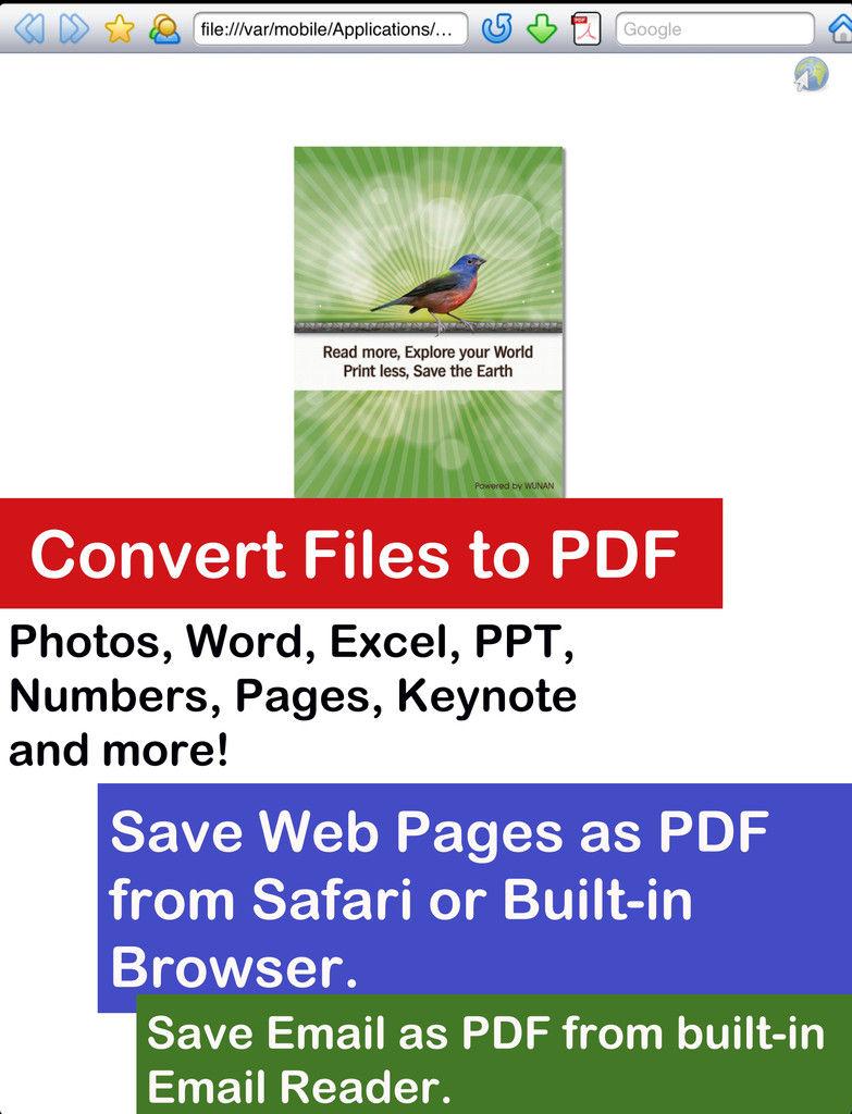 save safari page as pdf iphone