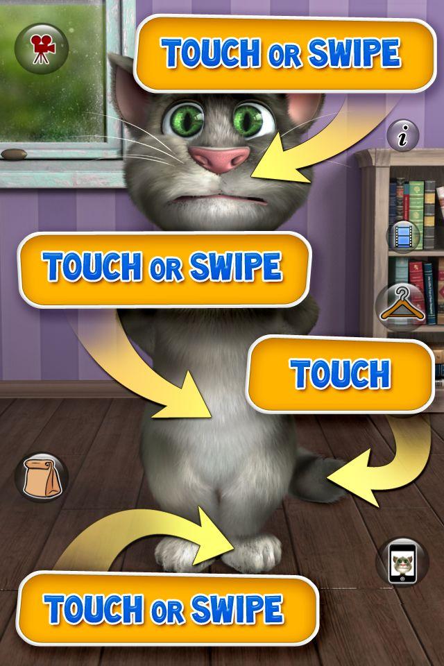 Скриншоты Talking Tom Cat 2.