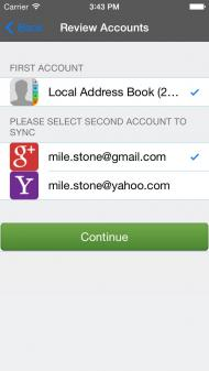 Sync iphone contacts to yahoo address book