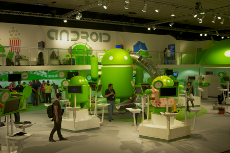 Standul Android la Mobile World Conference 2012