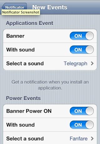 Notificator tweak jailbreak iOS