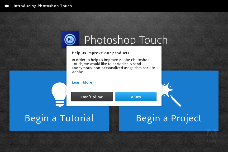 Photshop Touch running on iPhone 4S