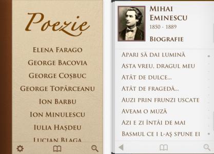 Poezie 2.0 - aplicatie din App Store Romania