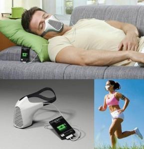 AIRE masca care iti incarca iPhone-ul folosind aerul respirat de tine