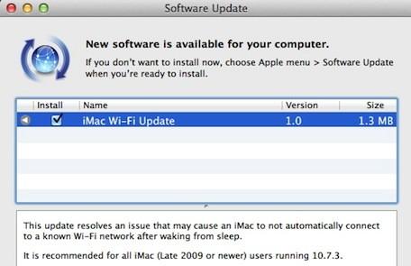 iMac Wi-Fi Update disponibil pentru iMac
