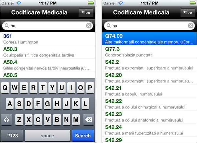 Codificare Medicala App Store