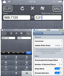 Currency Converter pentru Notifications Center