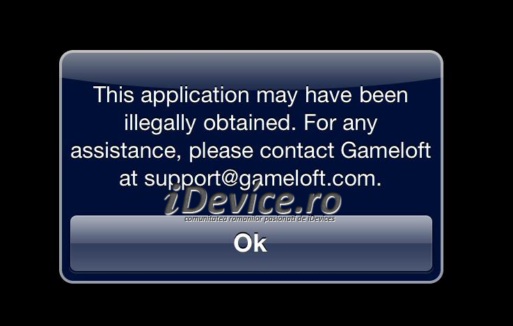 Gameloft Fraud Warning image