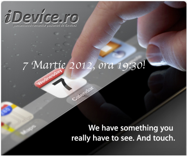 iPad 3 LIVE invitatie