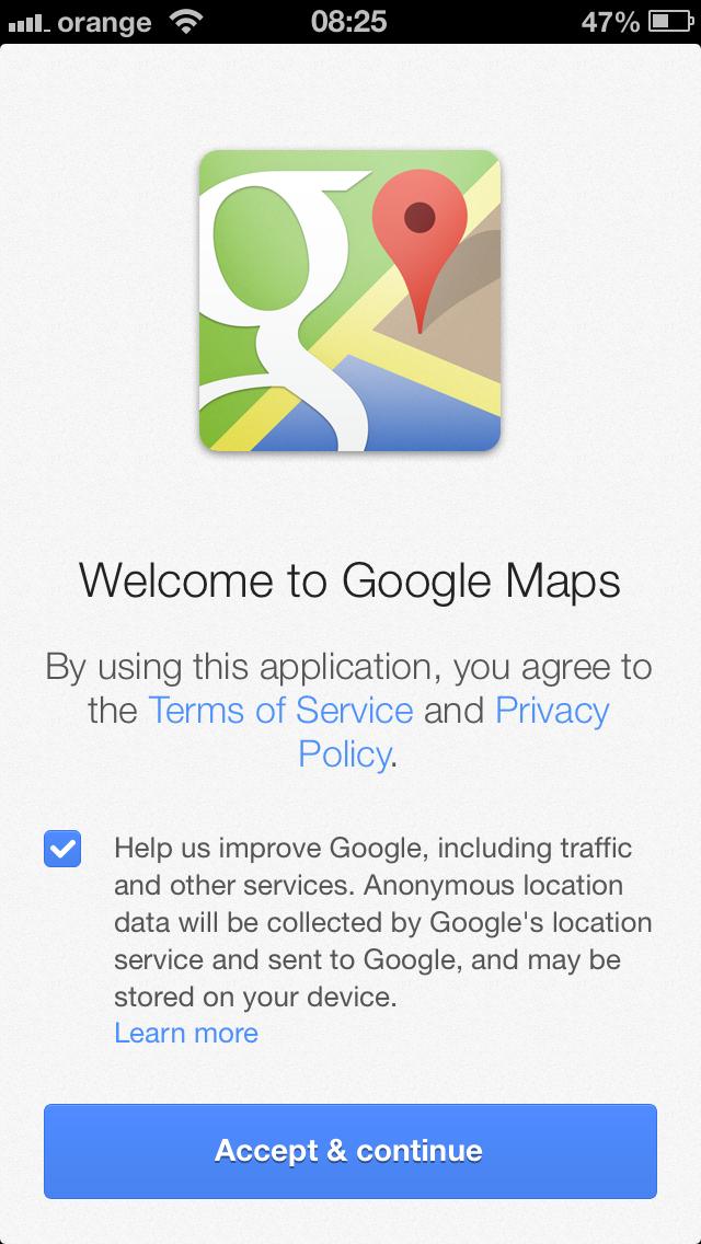 aplicatia google maps pentru ios ar putea incalca legislatia europeana privind protectia datelor. Black Bedroom Furniture Sets. Home Design Ideas