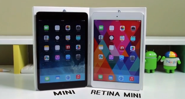 iPad Mini cu Ecran Retina vs iPad Mini