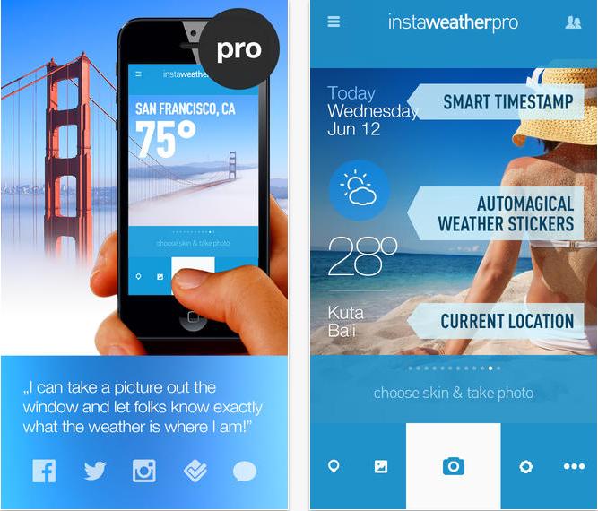 Instaweather Pro Este Disponibila Gratuit App Store