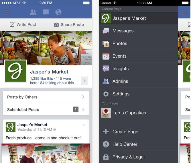 Facebook Pages Manager iOS 7 - iDevice.ro