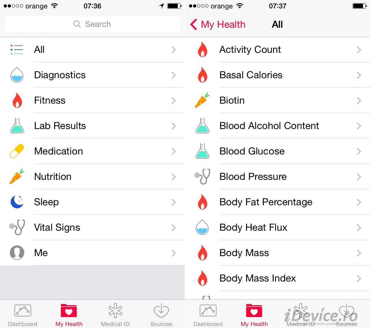 iOS 8 HealthKit - iDevice.ro