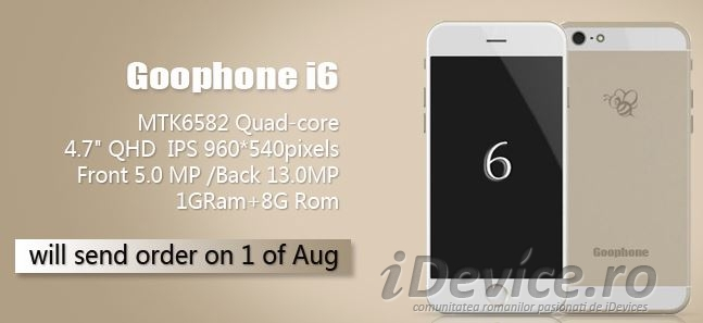Goophone I6 clona iPhone 6 - iDevice.ro
