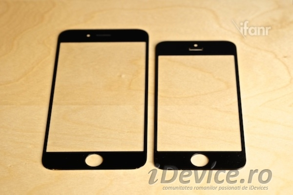 iPhone 6 panou frontal comparatie iPhone 5S - iDevice.ro