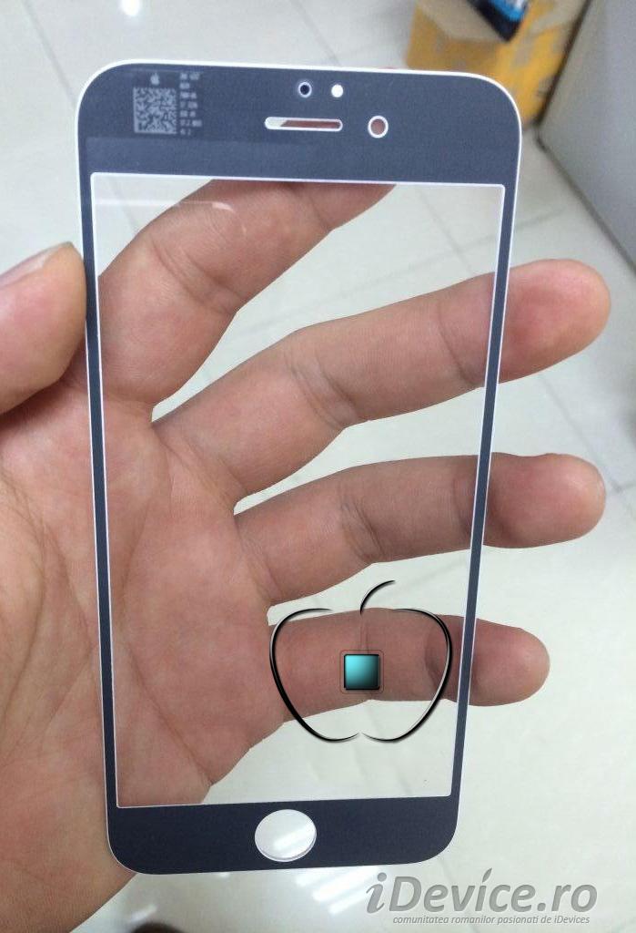 iPhone 6 panou frontal carcasa argintie - iDevice.ro