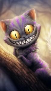 Alice In Wonderland Cheshire Cat iPhone 5 Wallpaper