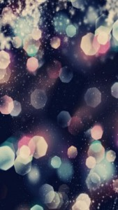 Cool Retro Bokeh Lights iPhone 5 Wallpaper