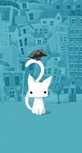Cute-City-Cartoon-Cat-iphone-5-ios7-wallpaper-ilikewallpaper_com
