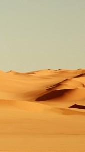 Endless Desert Sand Dunes iPhone 5 Wallpaper