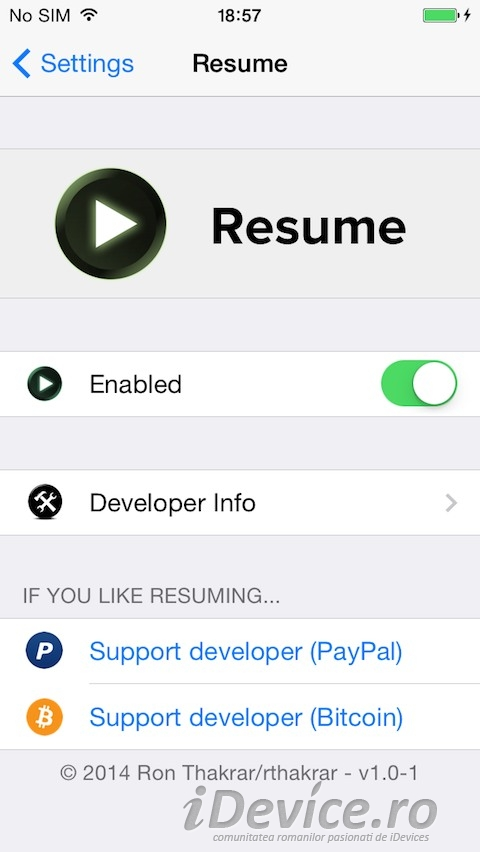 resume implementeaza o functie foarte utila pentru