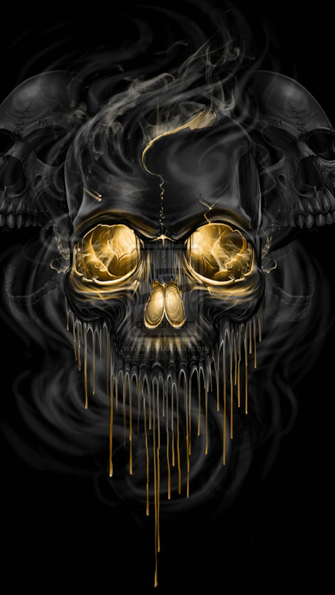 Halloween 2014 wallpaper pentru iphone 6 si iphone 6 - Skull wallpaper iphone 6 ...