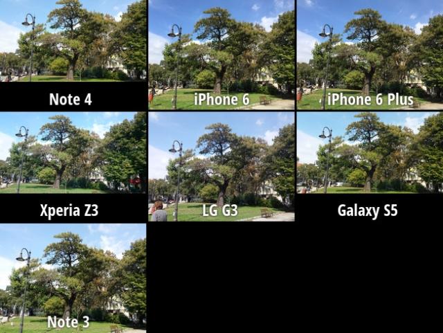 iPhone 6 vs iPhone 6 Plus vs Samsung Galaxy Note 4 vs Sony Xperia Z3 ...