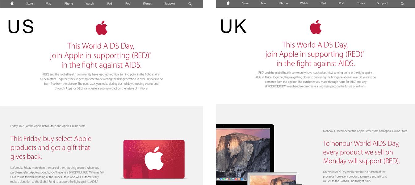 Apple Store Marea Britanie si SUA