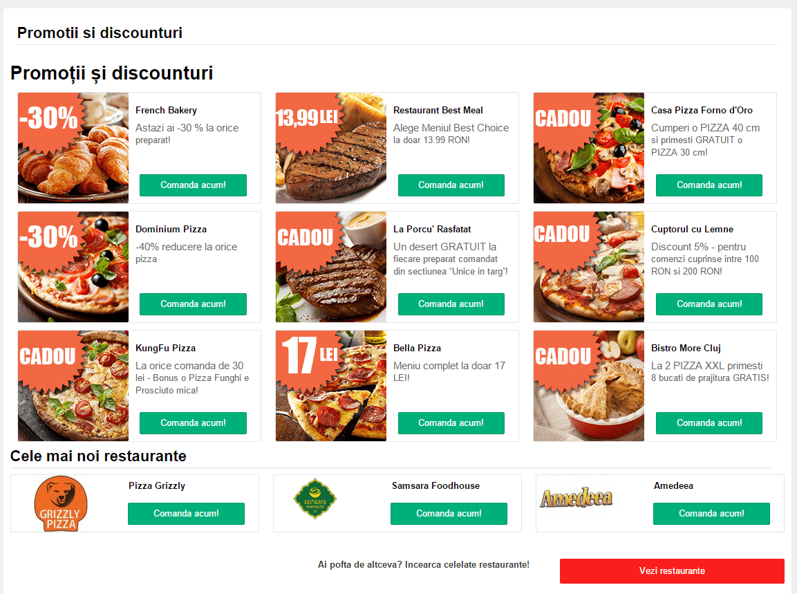 Foodpanda comanda mancare online 2