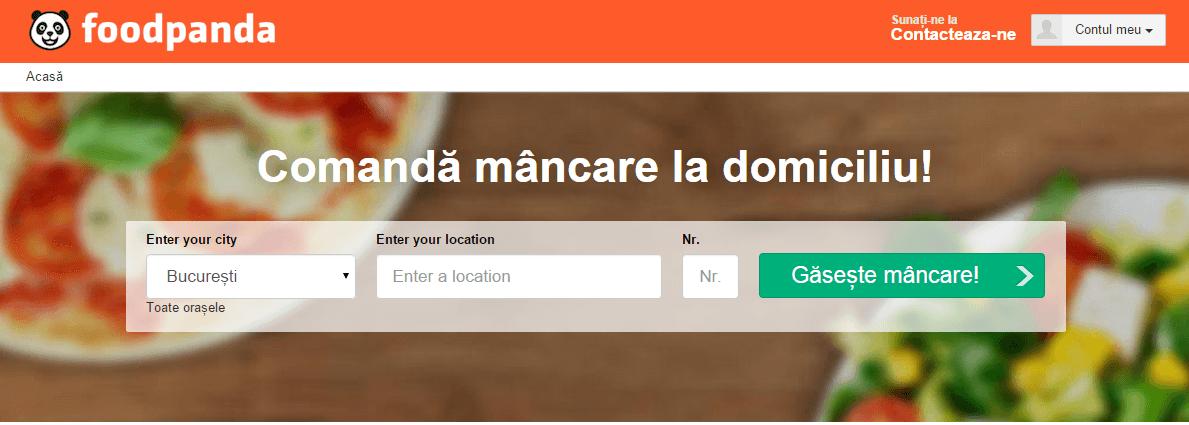 Foodpanda comanda mancare online