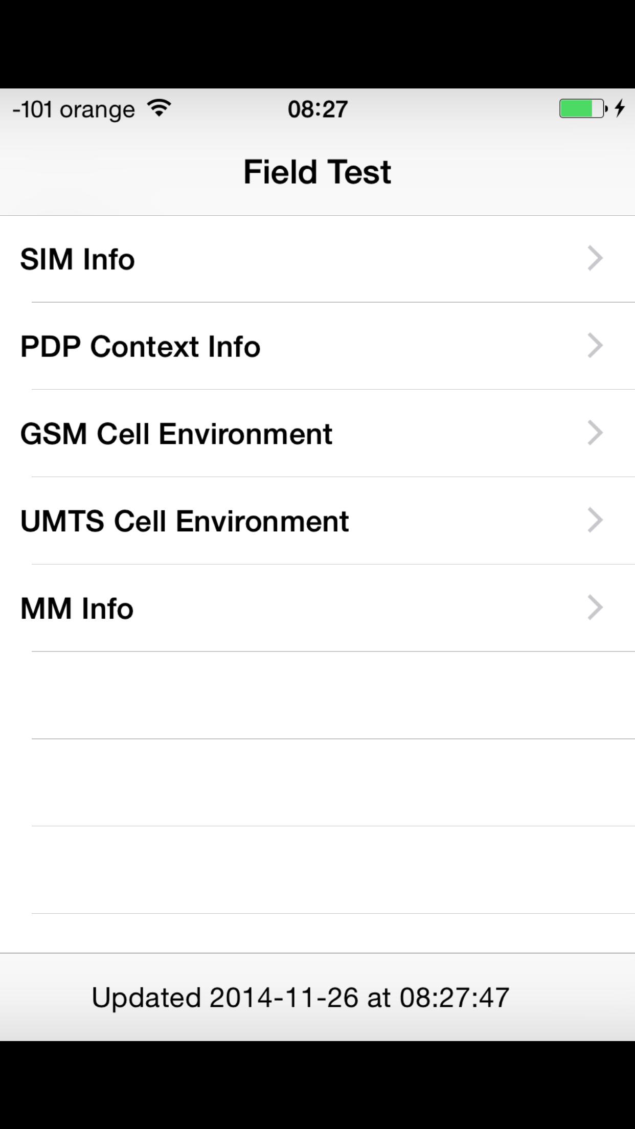 Puterea semnalului GSM in iOS 8