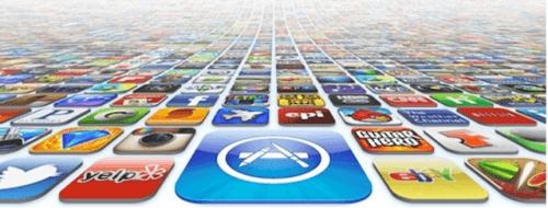 App Store perete aplicatii