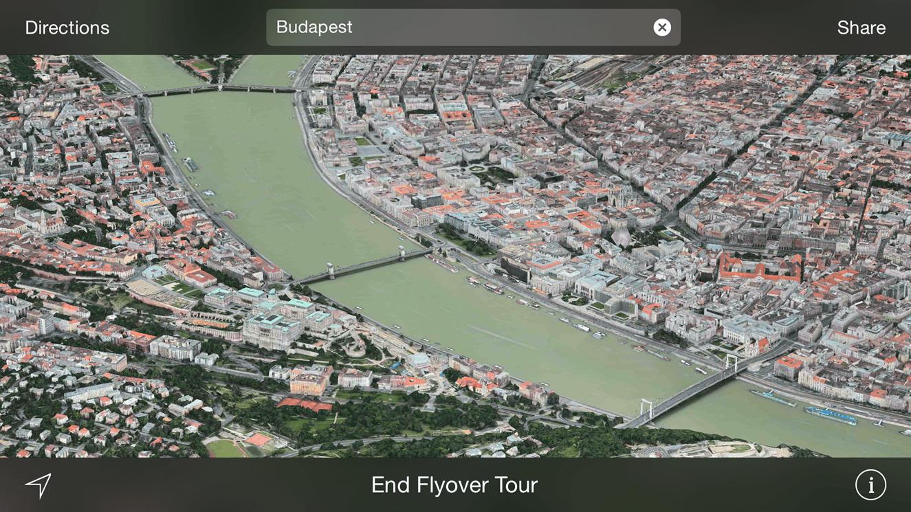 Apple Maps Flyover 3D Budapesta 1