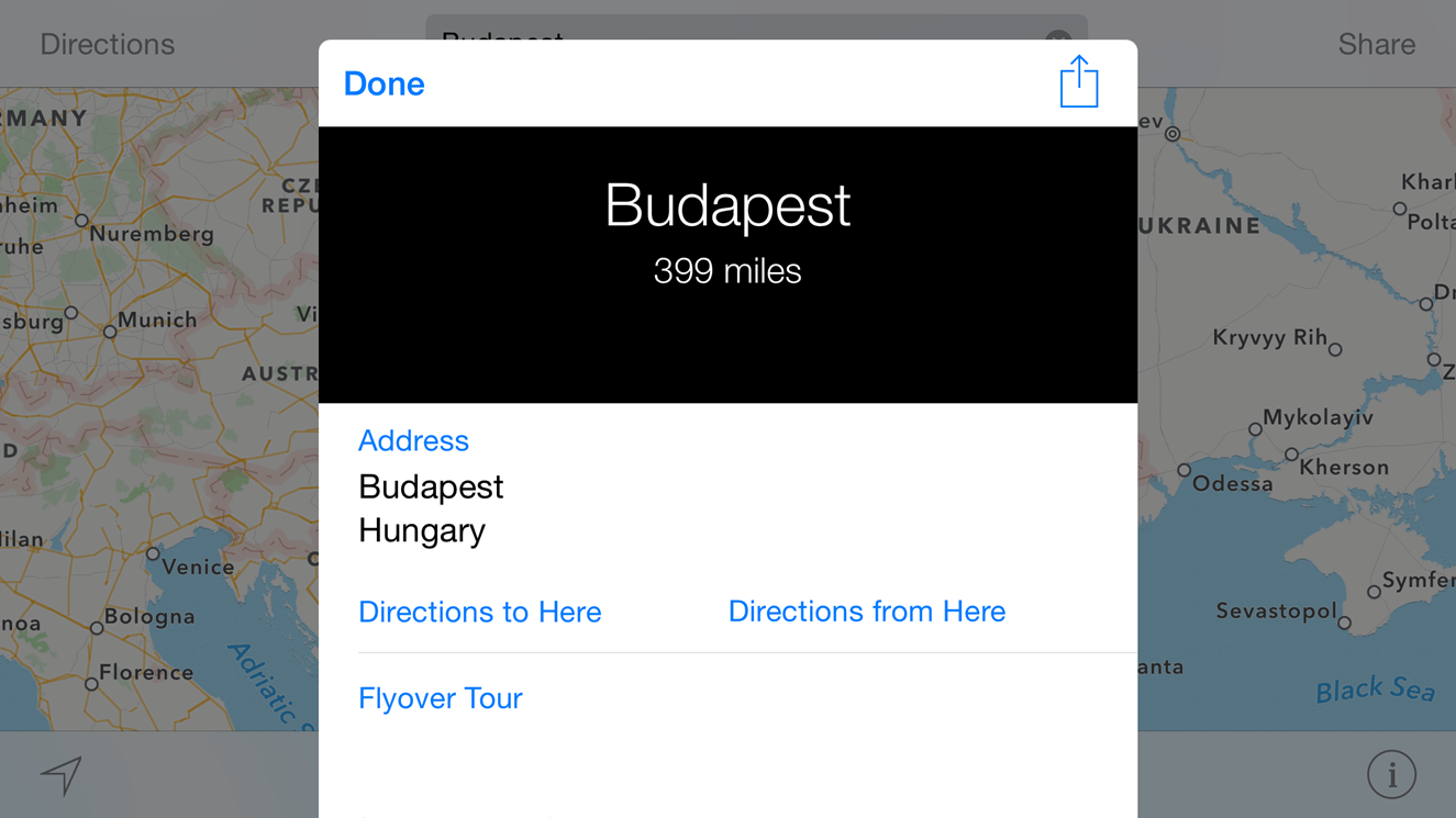 Apple Maps Flyover 3D Budapesta