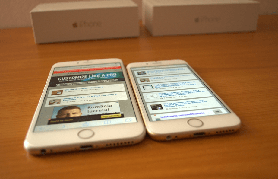 Ce sa aleg intre iPhone 6 si iPhone 6 Plus