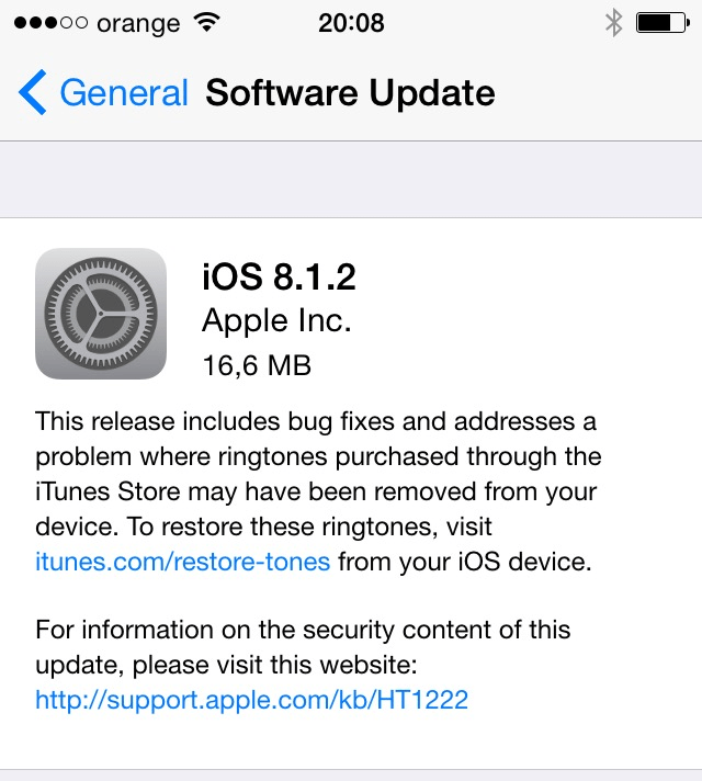 Descarca iOS 8.1.2