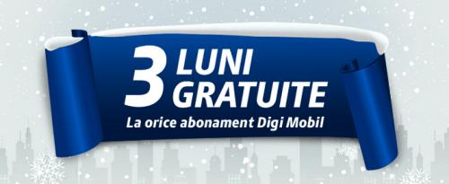 Digi Mobil 3 luni gratuit