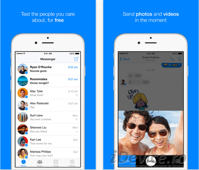 Facebook Messenger iPhone
