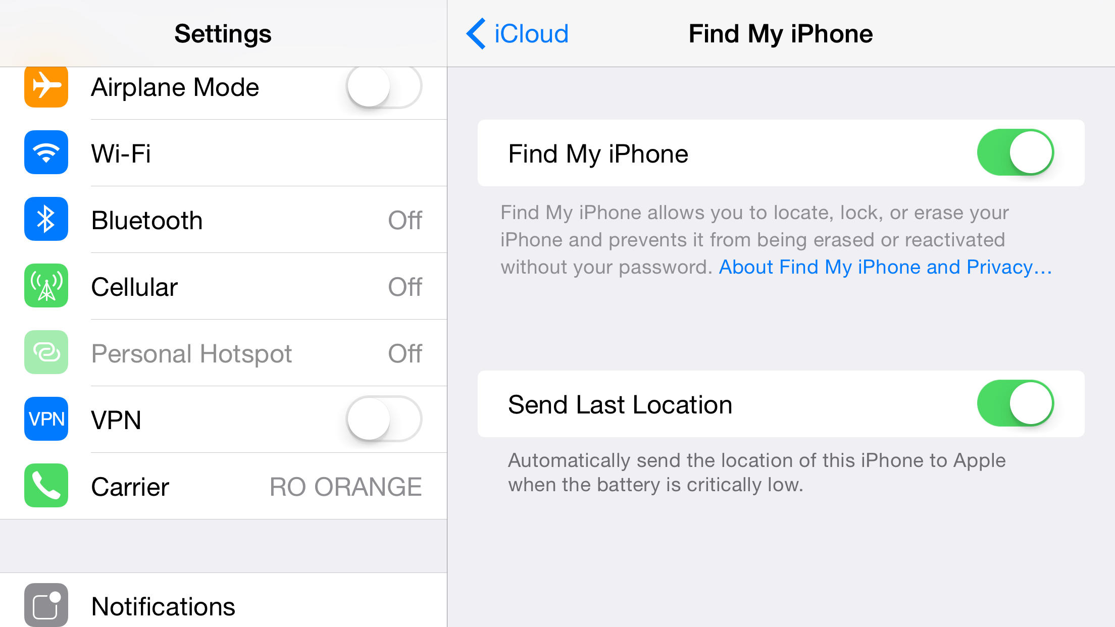 Find My iPhone si Activation Lock iDevice