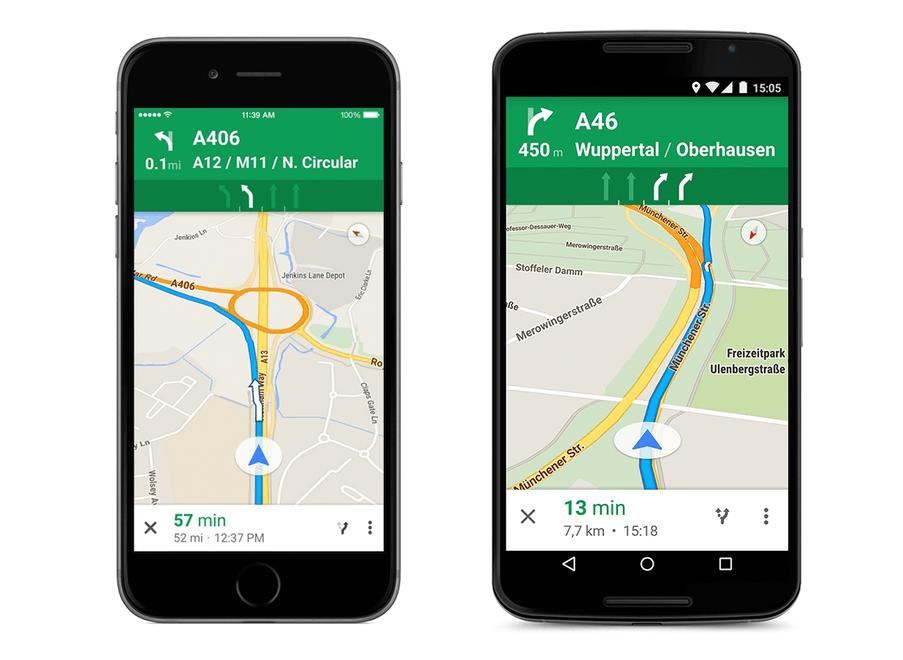 Google Maps ghidare banda circulatie