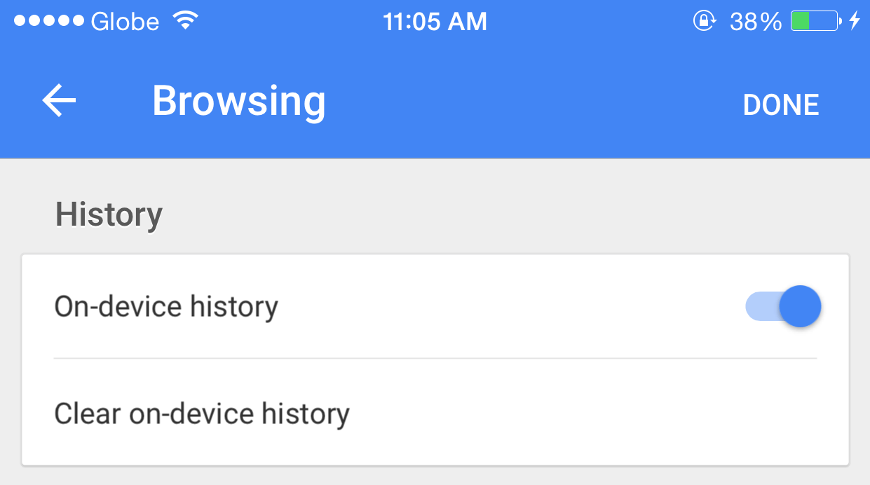 Google Search stergere istorie