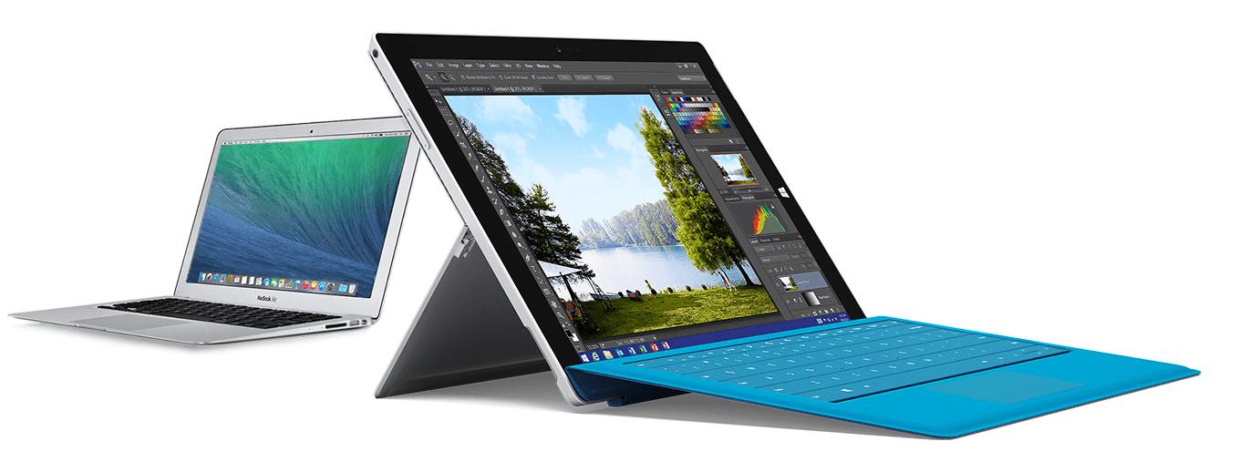 MacBook Air Surface Pro 3