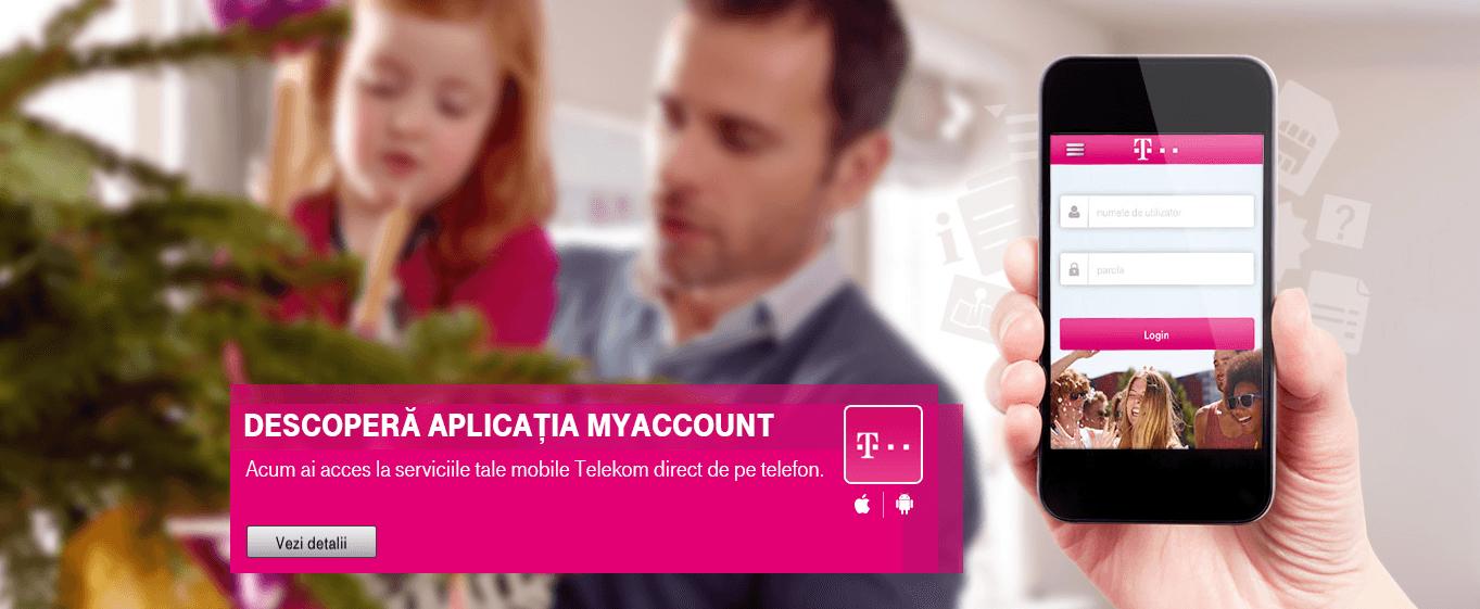 MyAccount aplicatie Telekom