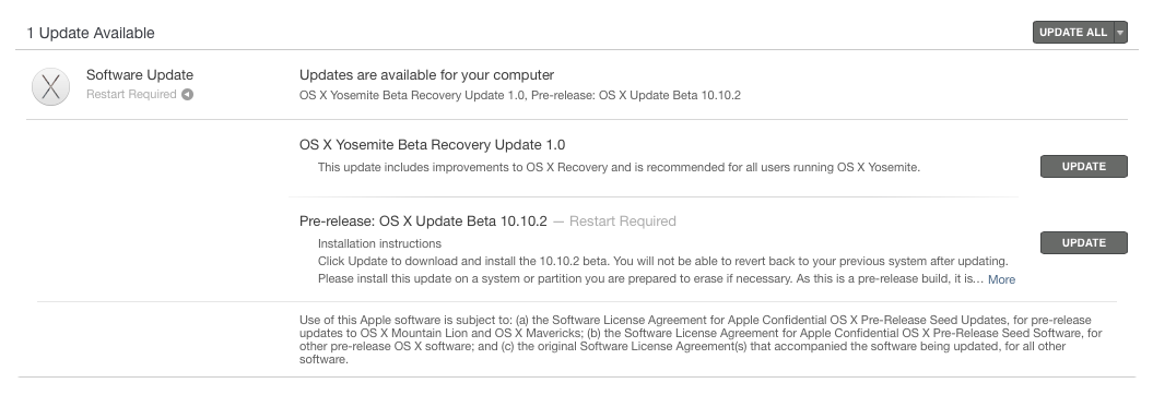 OS X Yosemite 10.10.2 beta build 14C81h