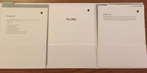 Oferta angajare la Apple
