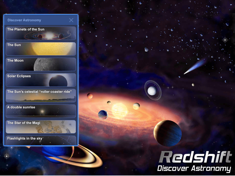Redshift Discover Astronomy