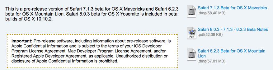 Safari 8.0.3, 7.1.3 6.2.3