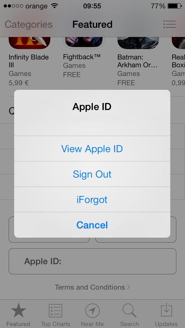 Schimb tara Apple ID