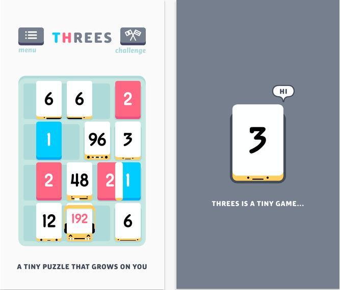Cel mai bun joc al anului 2014 pentru iPhone si iPad Threes!